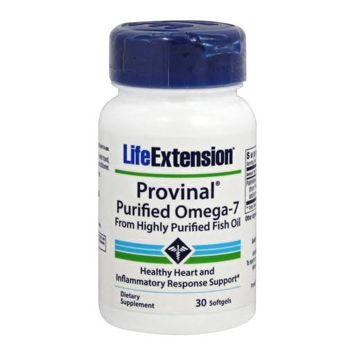 Life Extension Provinal Purified Omega-7 Supplement - 30ct