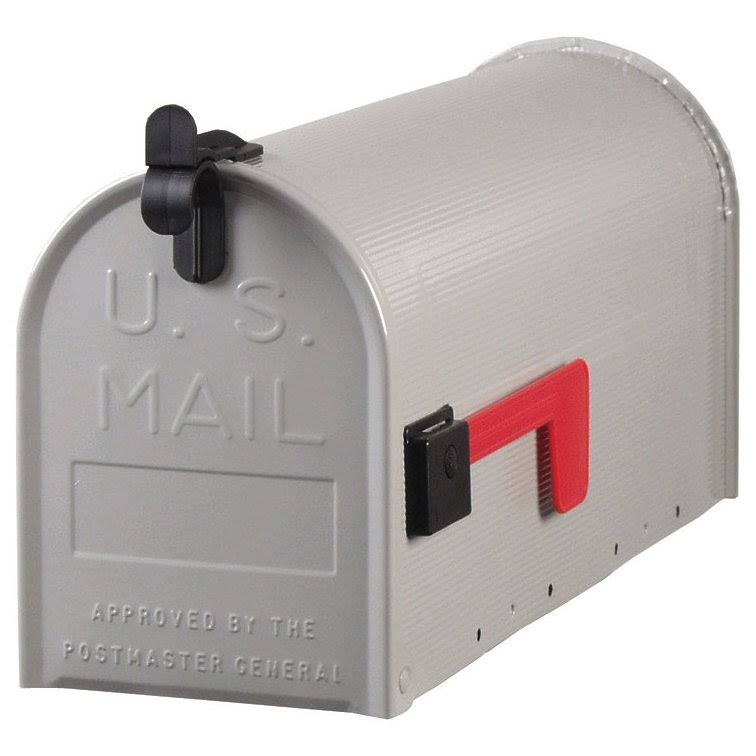 "Solar Group Rural Mailbox - 19"" x 6 3/4"" x 8 3/4"", Gray"