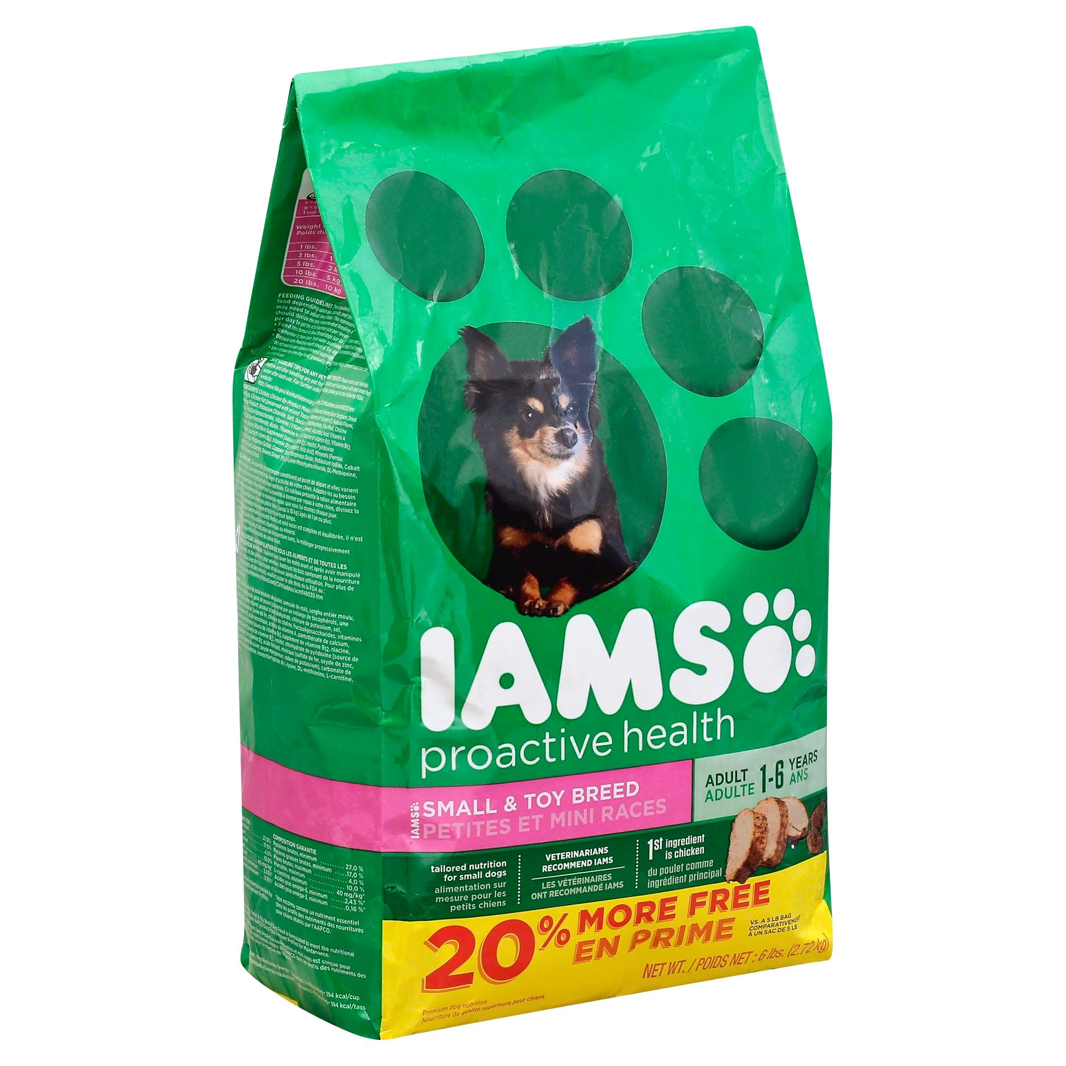 Iams Proactive Health Adult Dry Dog Food - Small and Toy Breed, 6 lbs