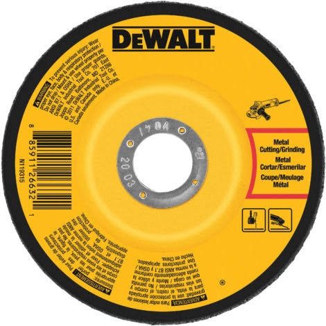 Dewalt Grinding Wheel - Metal, 0.25""