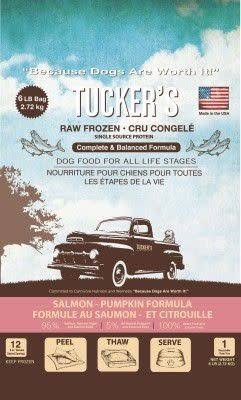 Tucker's Raw Frozen Salmon Pumpkin 6lb Dog Food