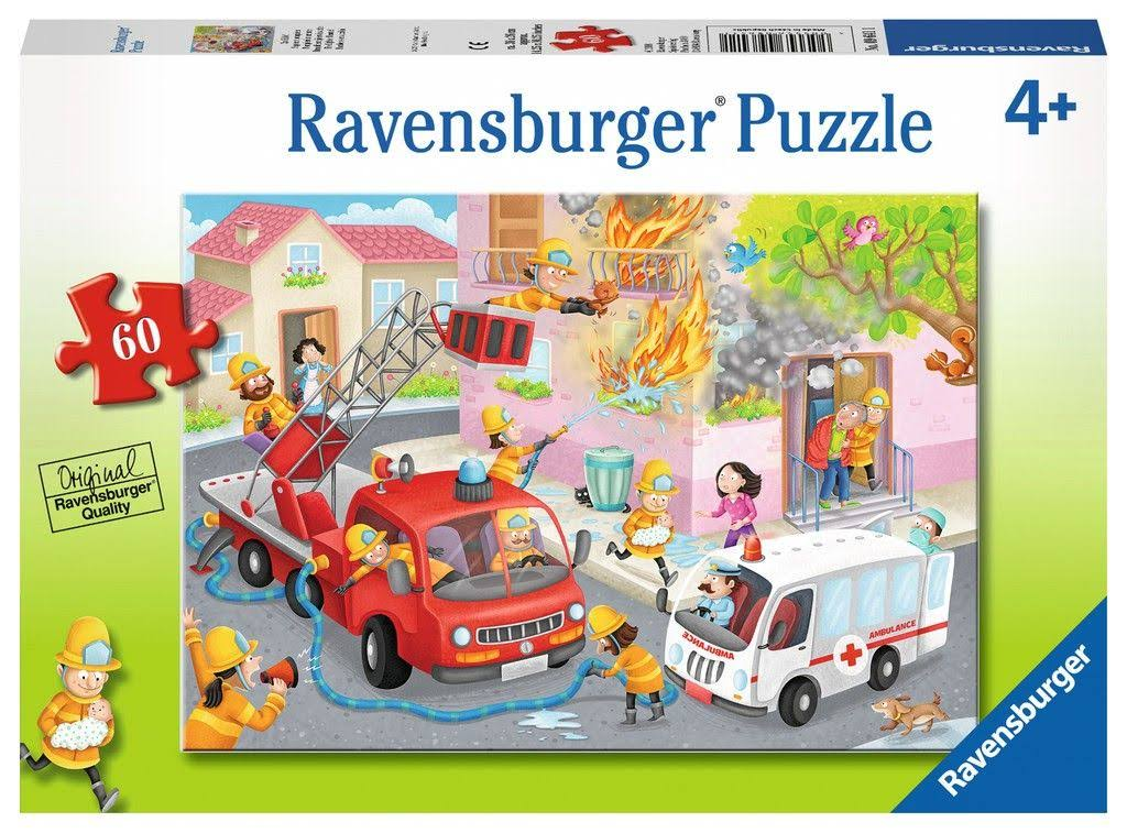 Ravensburger Firefighter Rescue! Jigsaw Puzzles - 60 Pieces