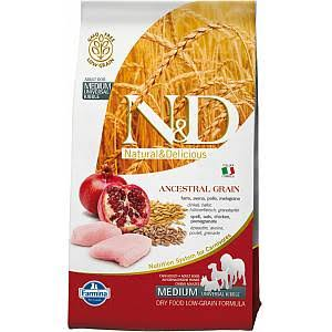 Farmina N&D Low Ancestral Grain Adult Medium Chicken and Pomegranate
