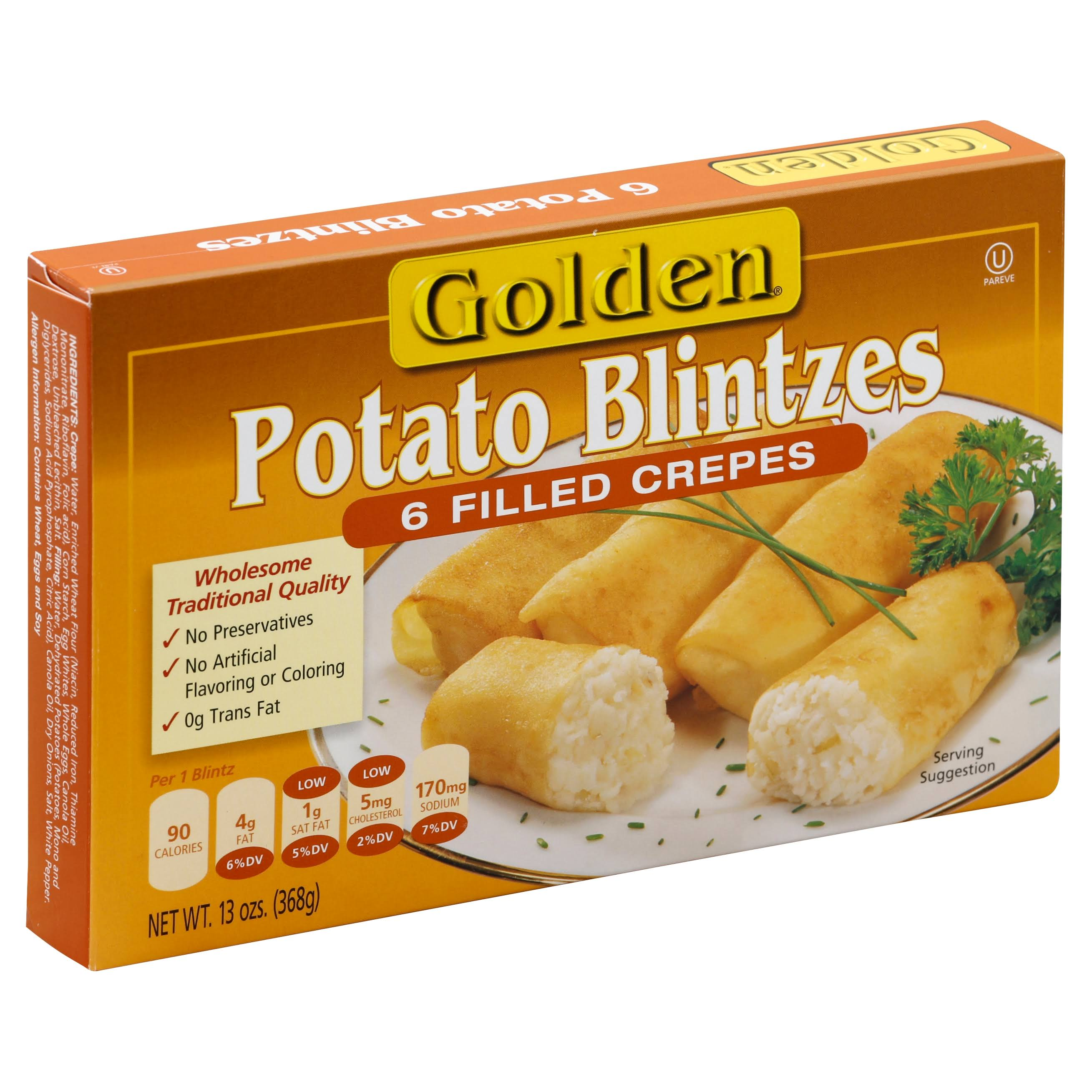Golden Potato Blintzes Filled Crepes - 6ct, 13oz