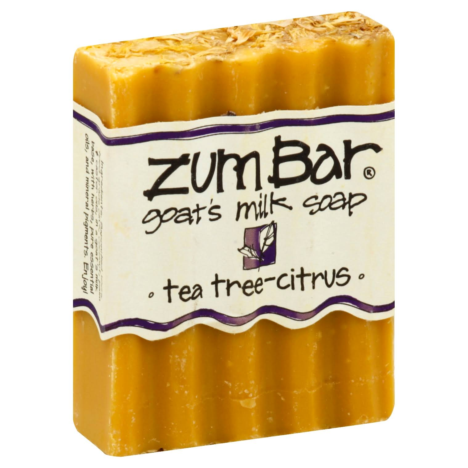 Indigo Wild Zum Bar Goats Milk Soap - Tea Tree and Citrus, 3oz