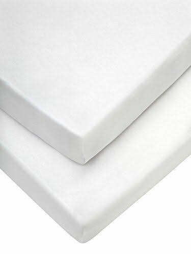 Mamas & Papas Pram Fitted Sheets (35 x 78 cm, White, Pack of 2)