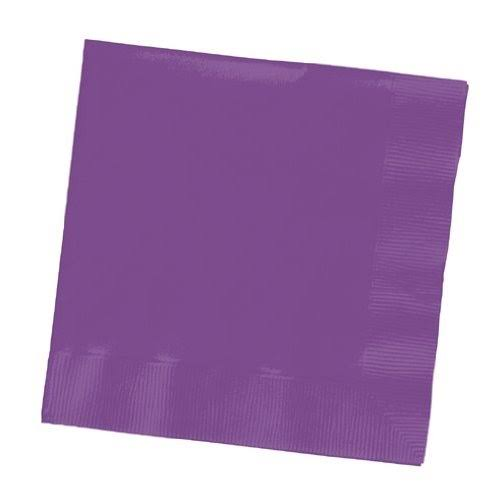Creative Converting Beverage Napkin - Purple, x50