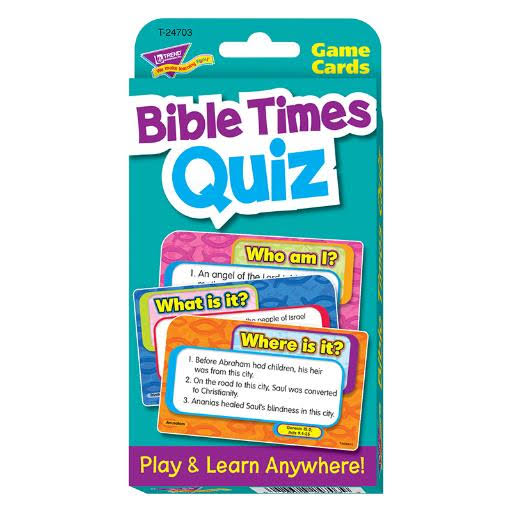 Trend Bible Times Quiz Challenge Game Cards