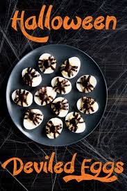 Ideas For Halloween Food Names by Halloween Deviled Eggs Recipe Best Deviled Eggs A Side Of Sweet
