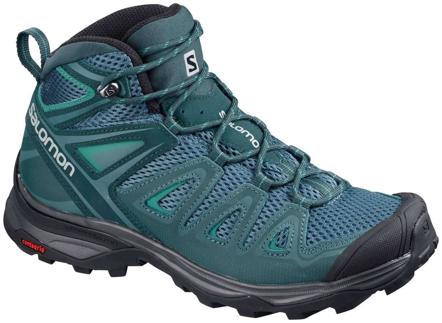 Salomon X Ultra Mid 3 Aero Hiking Boot - Mallard Blue, 8 US
