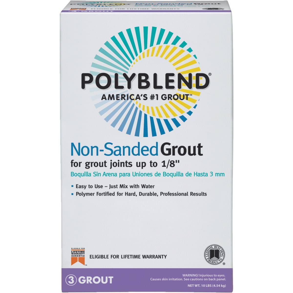 Custom Building Products Polyblend Non-Sanded Tile Grout - #10 Antique White, 10lbs