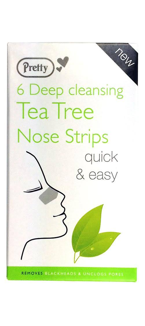 Pretty Deep Cleansing Nose Strips With Tea Tree - x6