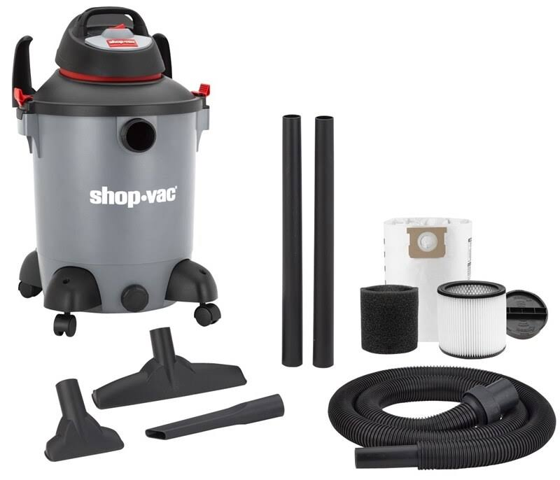 Shop-Vac 5982100 Corded Wet and Dry Utility Vacuum - Gray, 5hp, 110V, 10gal