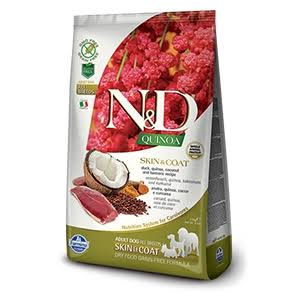 N&D Grain-Free Quinoa Skin & Coat Adult Dog Dry Food - Duck & Coconut, 7kg