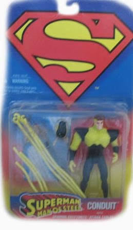 Conduit Action Figure with Spinning Kryptonite Attack Cables - Superman, Man of Steel Series