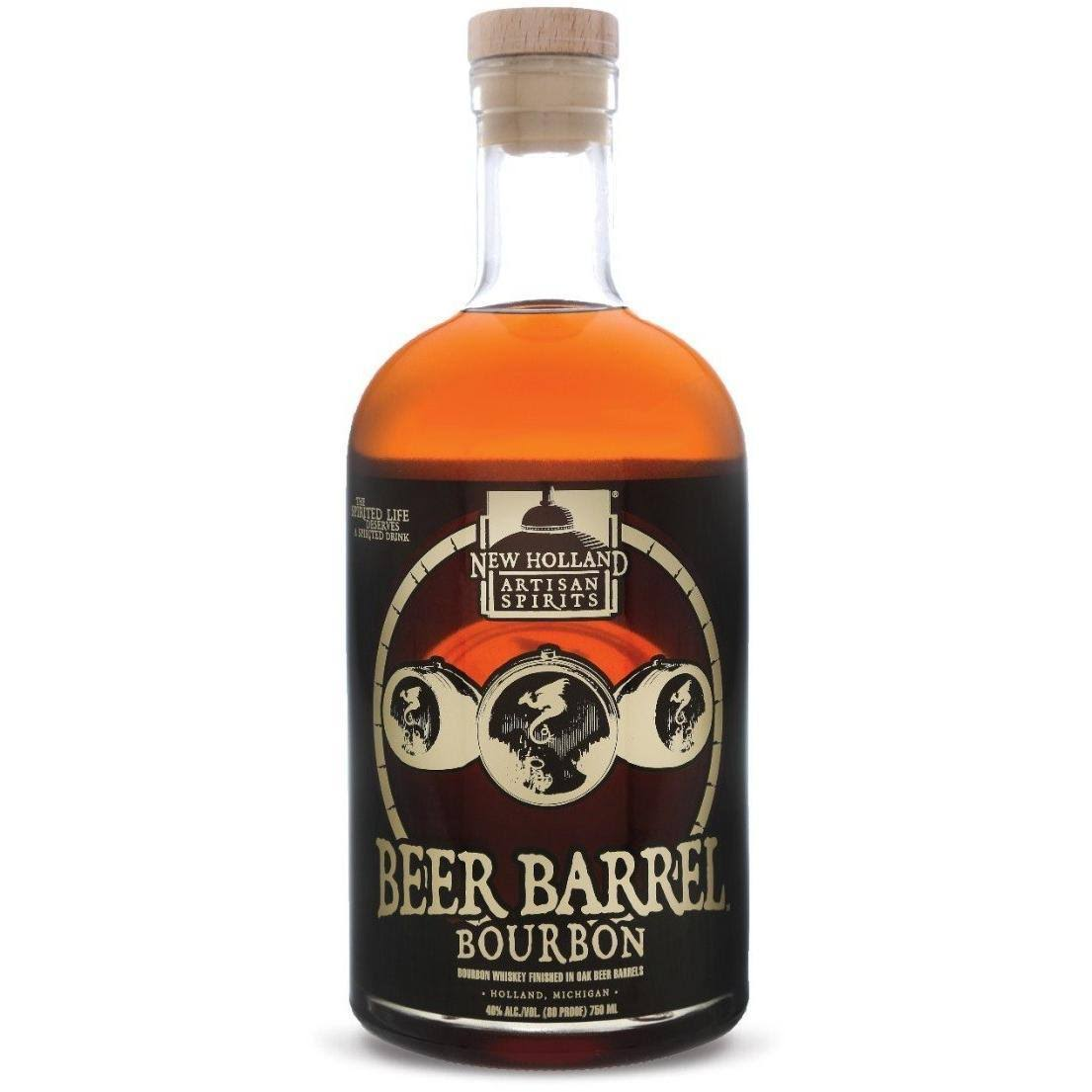 New Holland Beer Barrel Bourbon Whiskey - 750 ml bottle