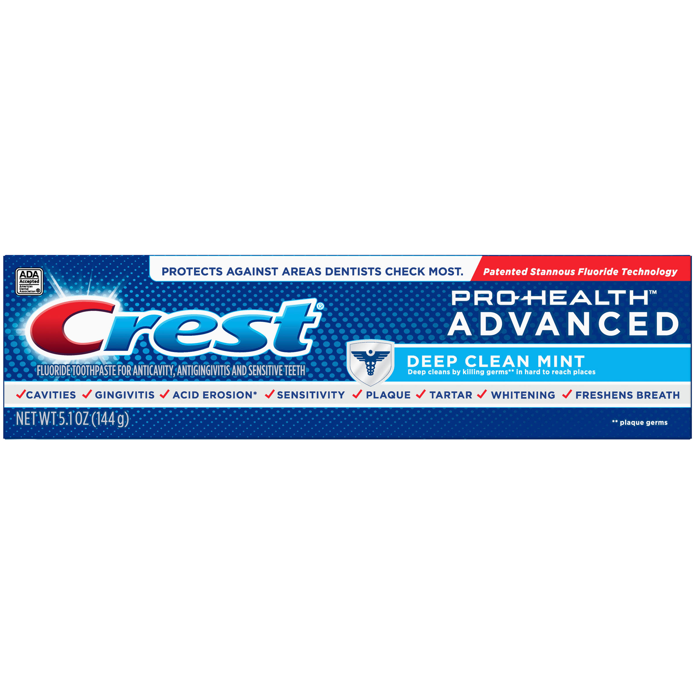 Crest Pro Health Advanced Fluoride Toothpaste - Deep Clean Mint, 150ml