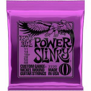 Ernie Ball Power Slinky Custom Gauge Guitar Strings - Nickel Wound