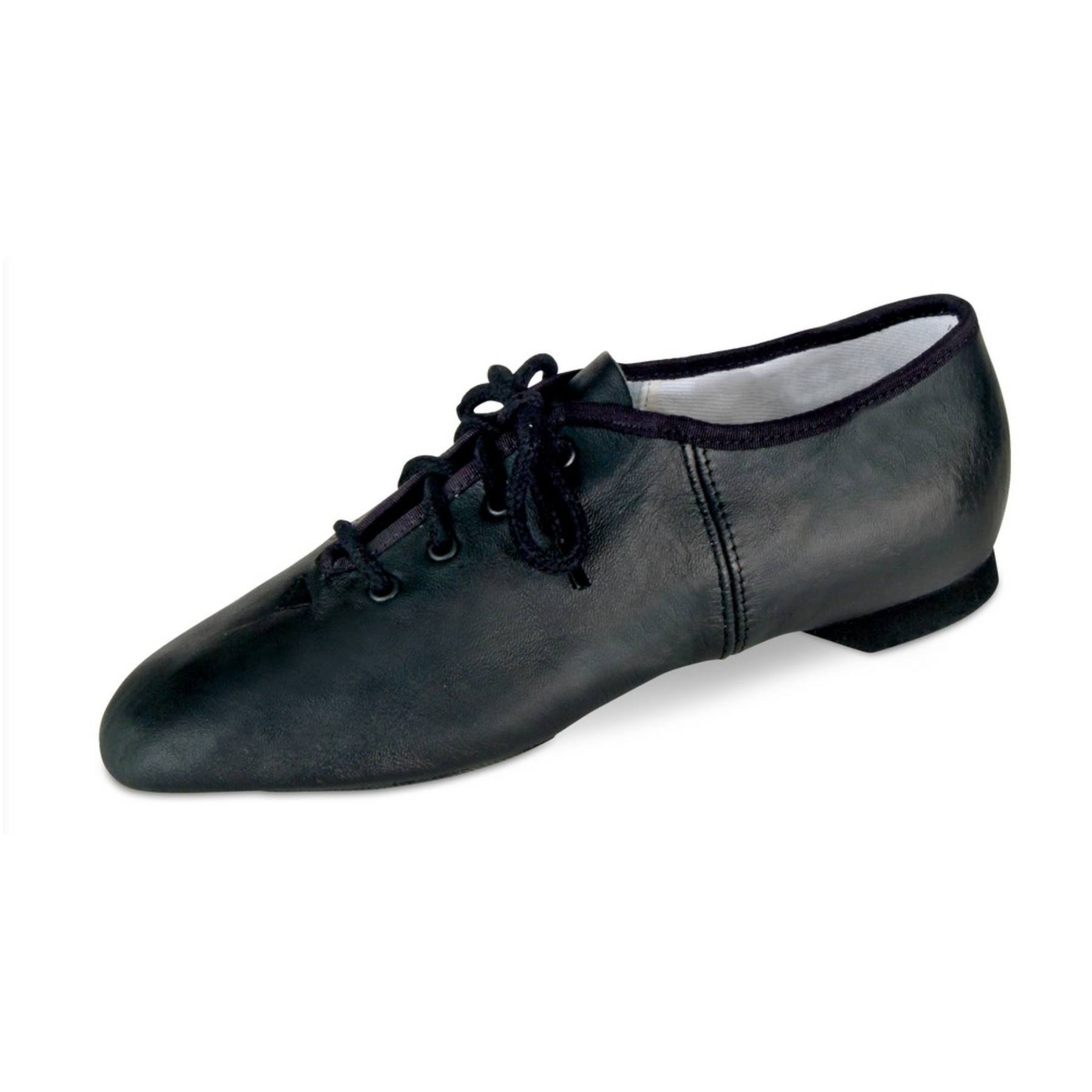 Danshuz Adult Black Soft Leather Upper Split Sole Jazz Shoes 11 Womens