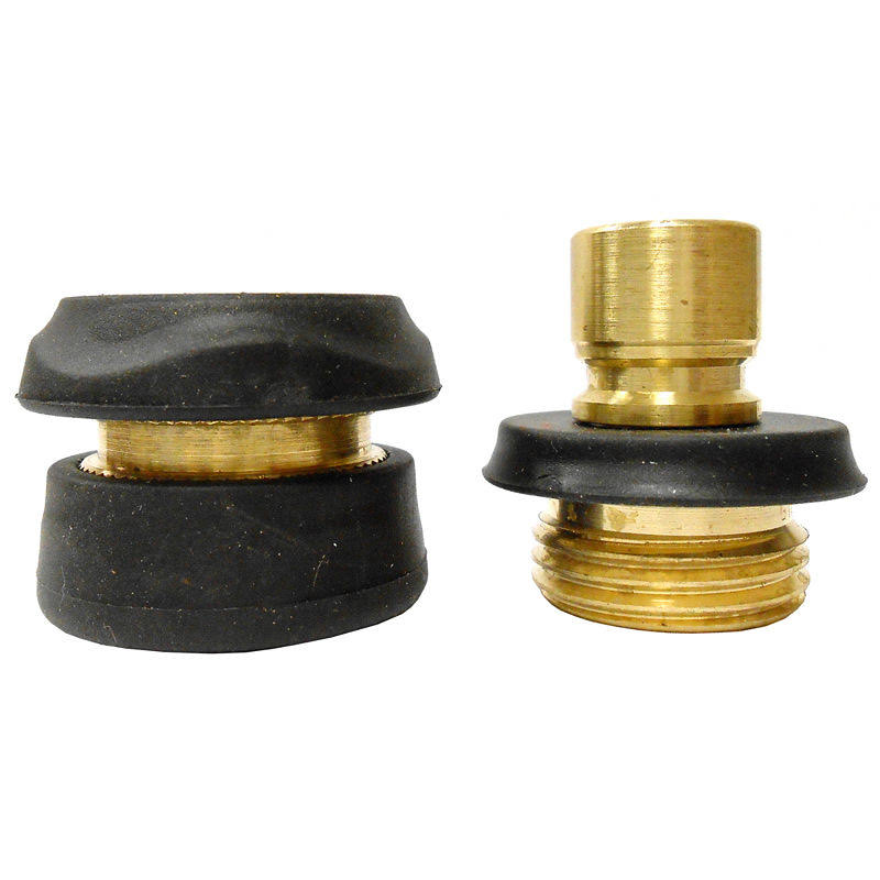 Gilmour Brass Hose Quick Connector - Brass