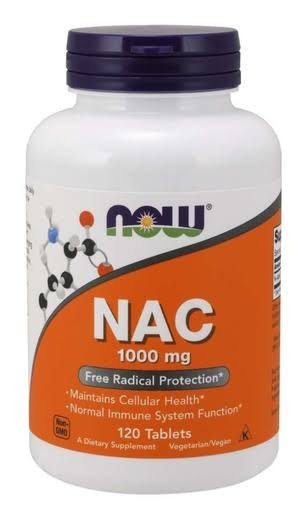 Now Foods NAC Radical Protection Dietary Supplement - 120 Tablets