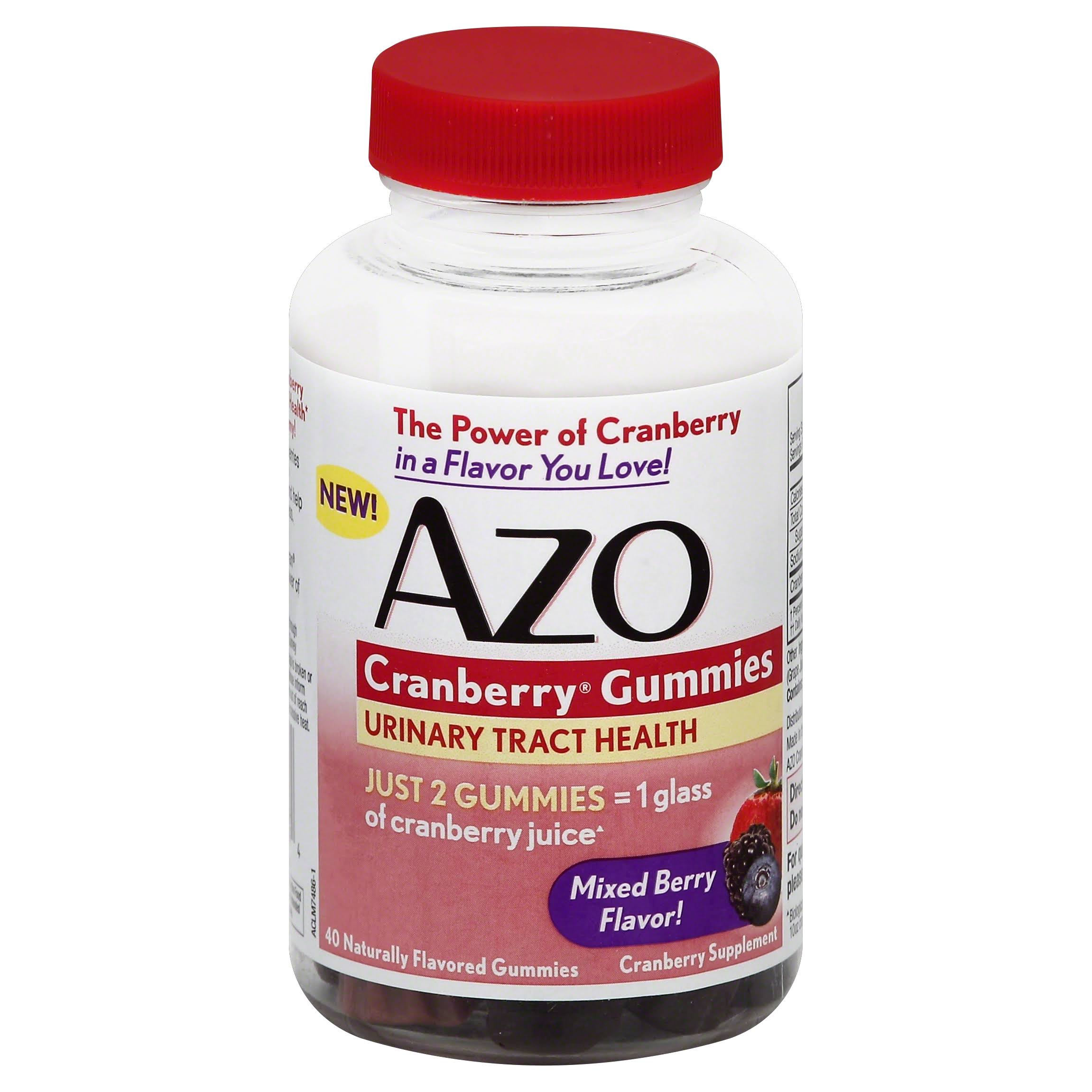 AZO Cranberry Gummies Dietary Supplement - 40ct