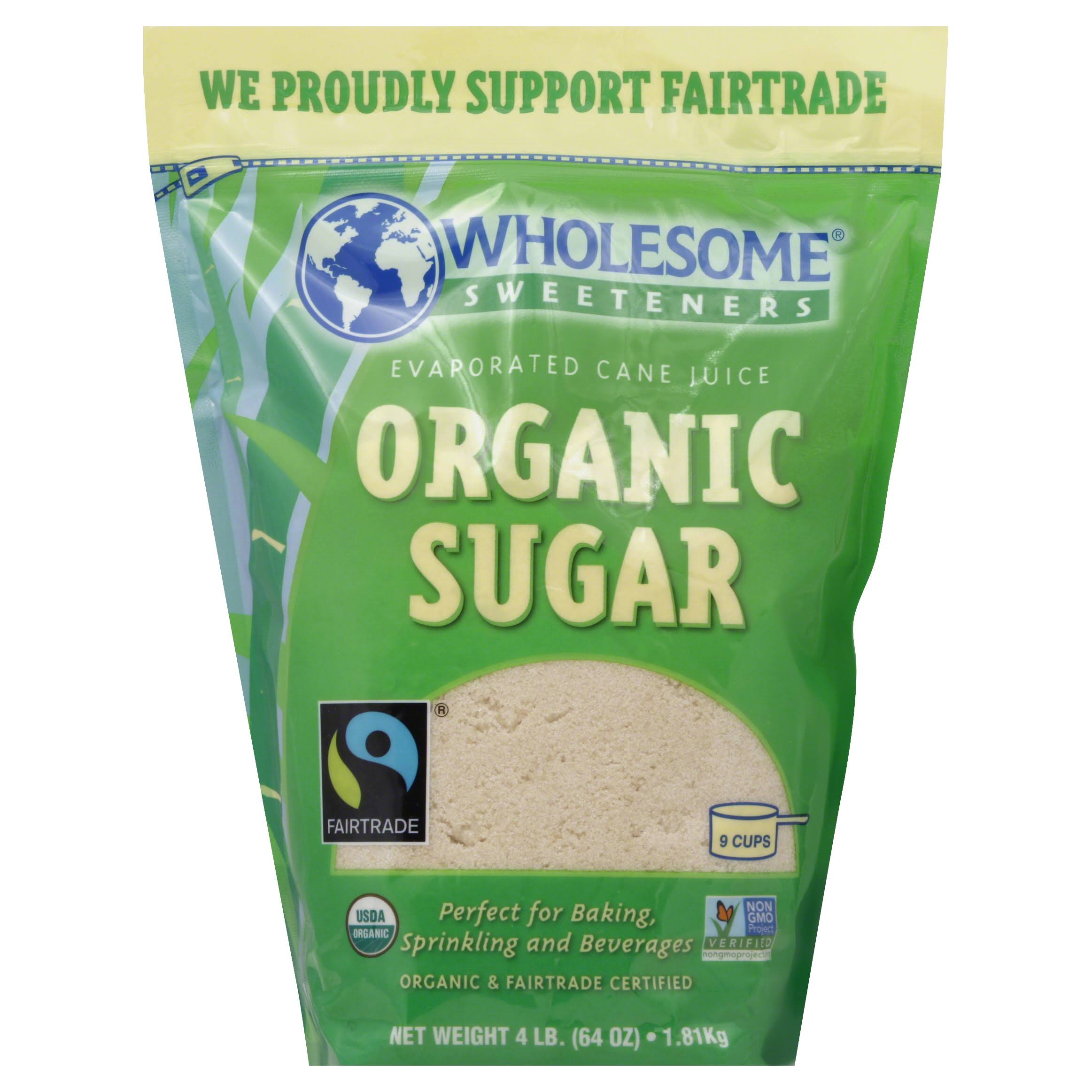 Wholesome Sweetners Organic Cane Sugar - 64oz