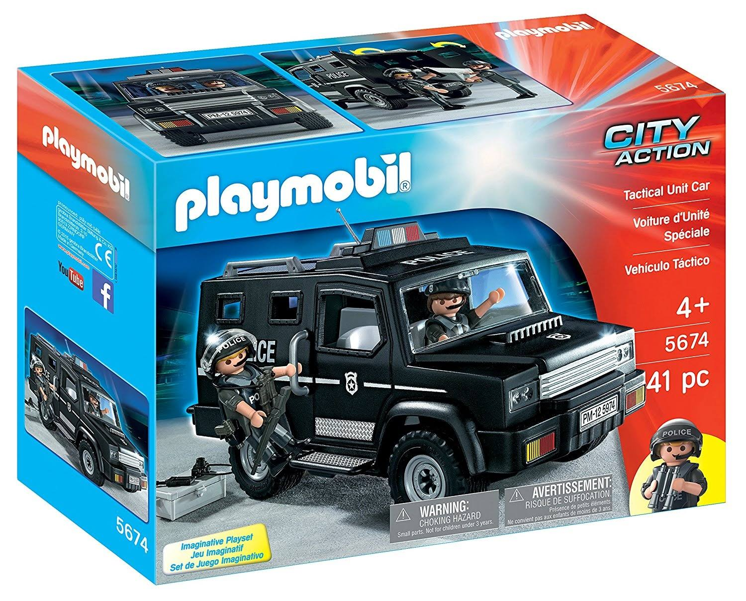 Playmobil City Action Tactical Unit Car - 41 Pieces