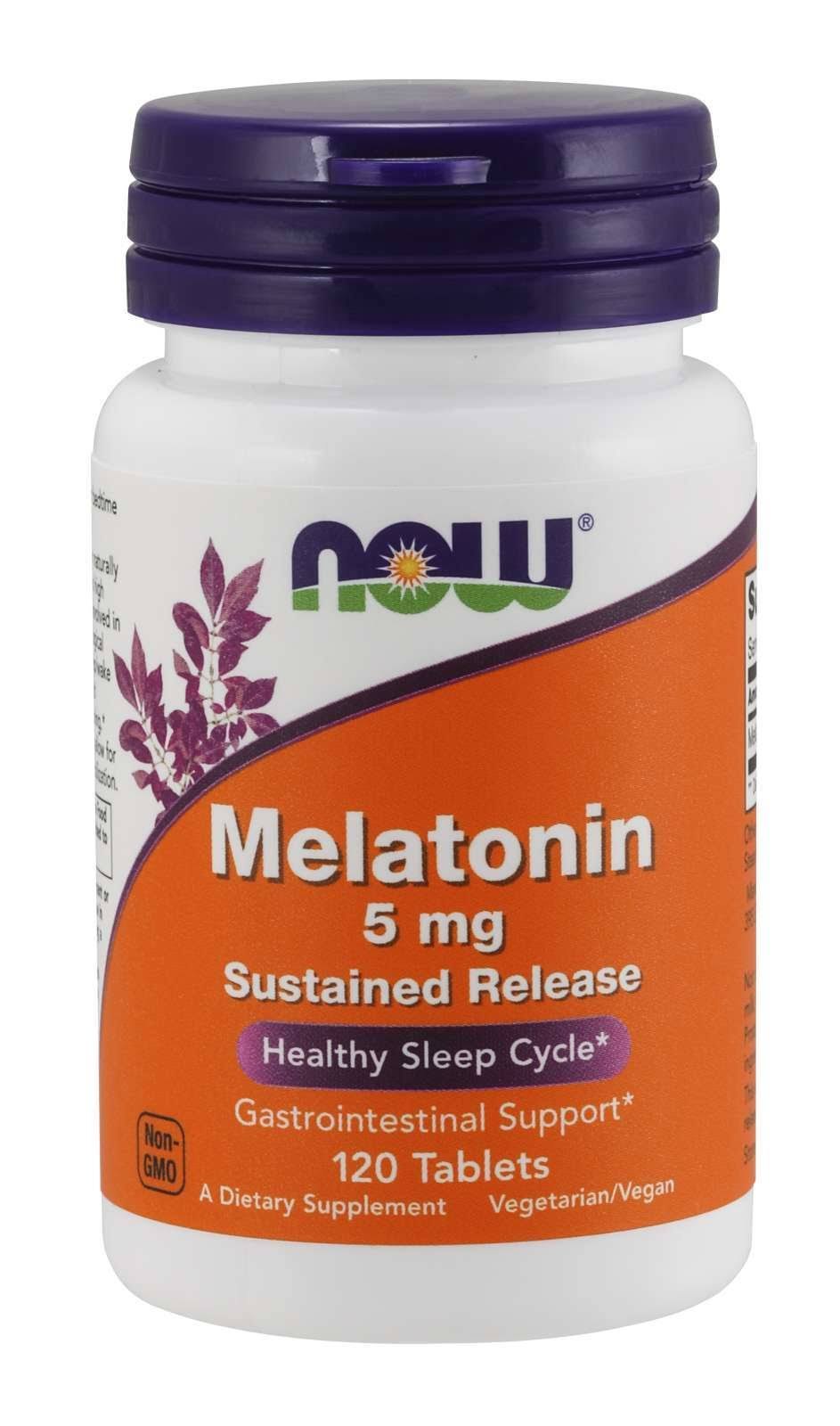 Now Foods Melatonin Sustained Release 5 mg 120 Tablets