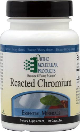 Ortho Molecular Product Reacted Chromium Dietary Supplement - 60ct