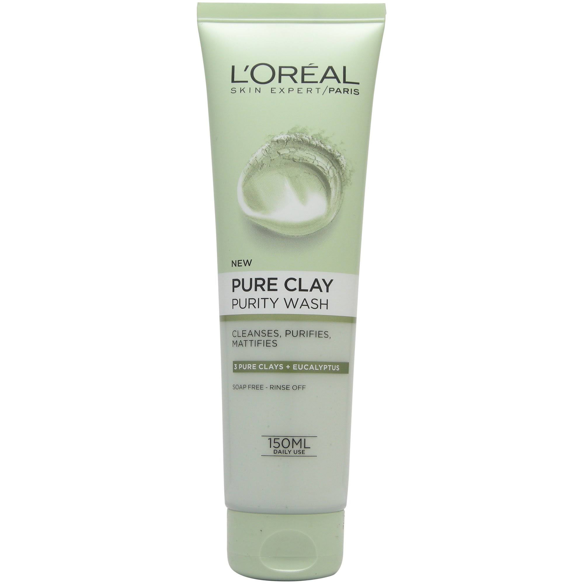 L'Oreal Paris Dermo Expertise Pure Clay Green Face Wash - 150ml
