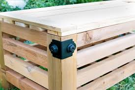Build Outdoor Storage Bench by Diy Outdoor Storage Ottoman