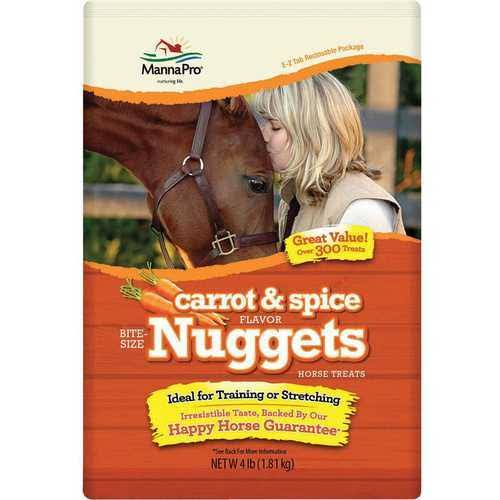 Manna Pro Horse Treat - Carrot and Spice Bite Size Nuggets, 4lbs
