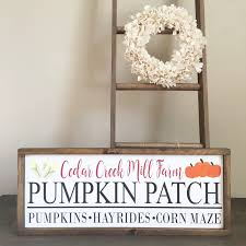 White Oak Pumpkin Patch by Pumpkin Patch Sign Pumpkin Patch Personalized Pumpkin Patch