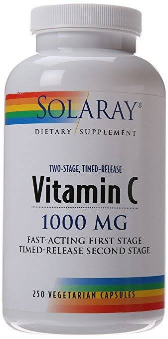 Solaray Vitamin C - 1000mg, 250 Vegetarian Capssules