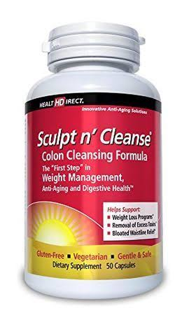 Health Direct Sculpt N' Cleanse Colon Cleansing Supplement - 450mg, 50 Capsules