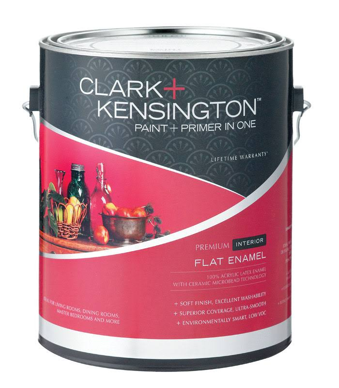 Clark + Kensington Interior Latex Flat Enamel Paint and Primer , HardwareOnlineStore