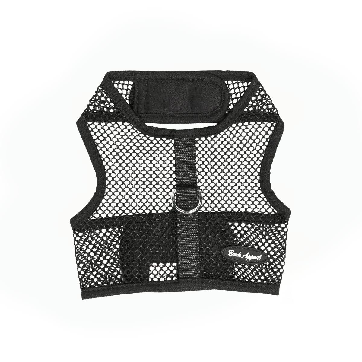 Bark Appeal Wrap N Go Netted Harness - Black, Medium