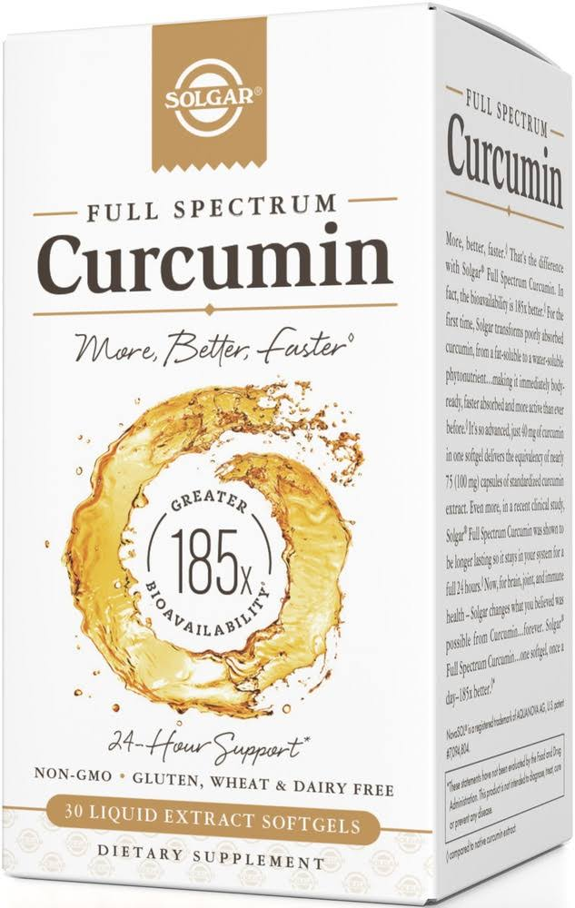 Solgar - Curcumin Full Spectrum - 30 Softgels