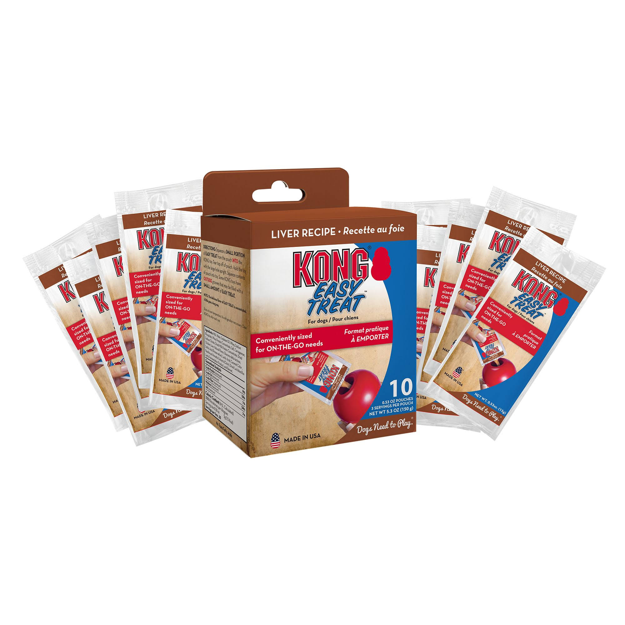 Kong Company Easy Treat to Go Liver Dog Treat - 5.3oz, 10pk
