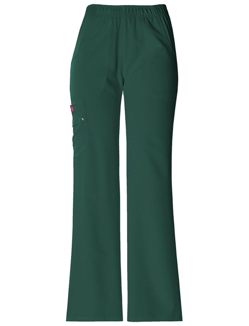 Dickies Scrubs Women's Xtreme Stretch Fit Elastic Waist - Hunter Green, XX-Large