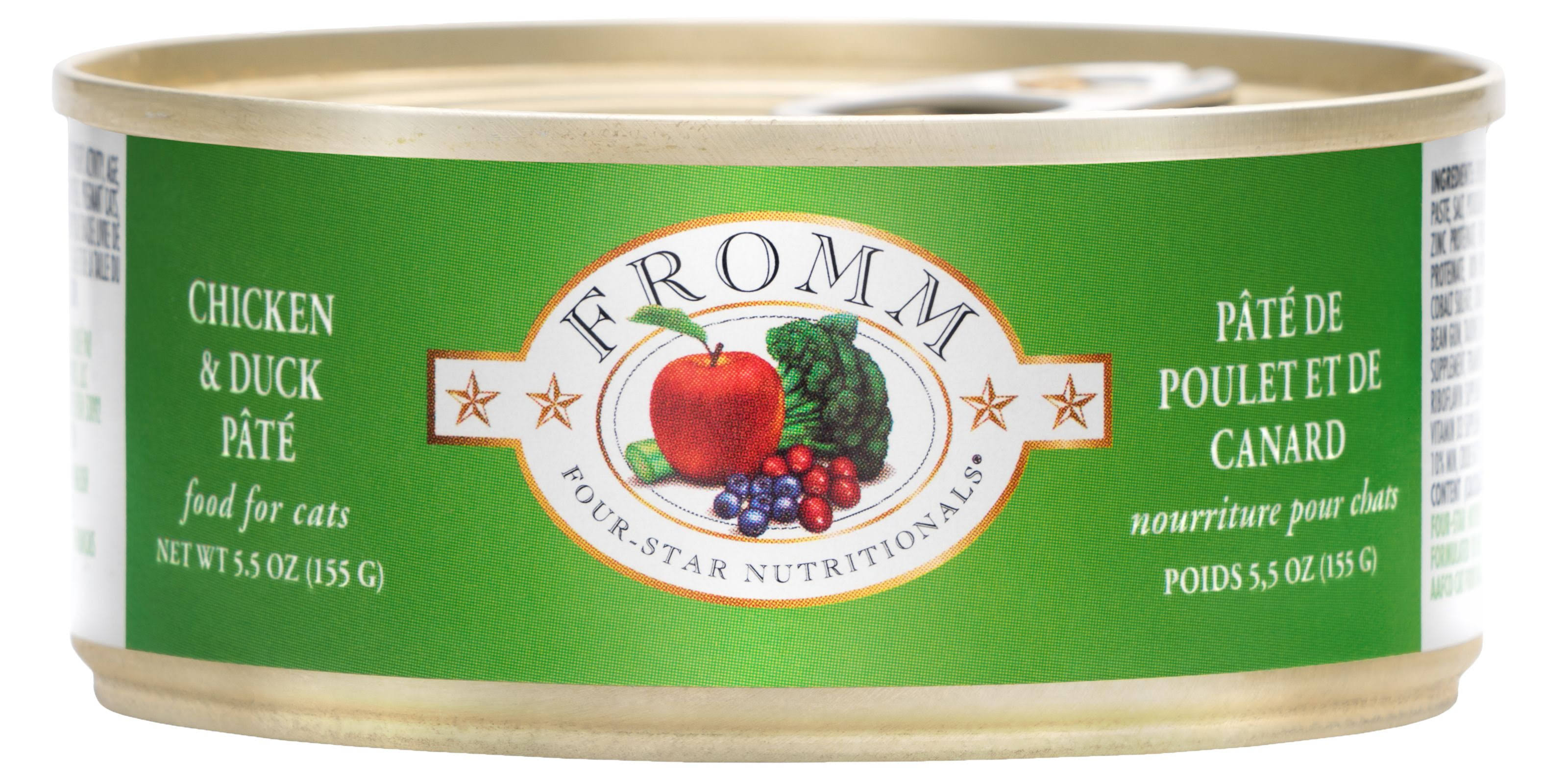 Fromm Four Star Chicken and Duck Pate Canned Cat Food 5.5 oz