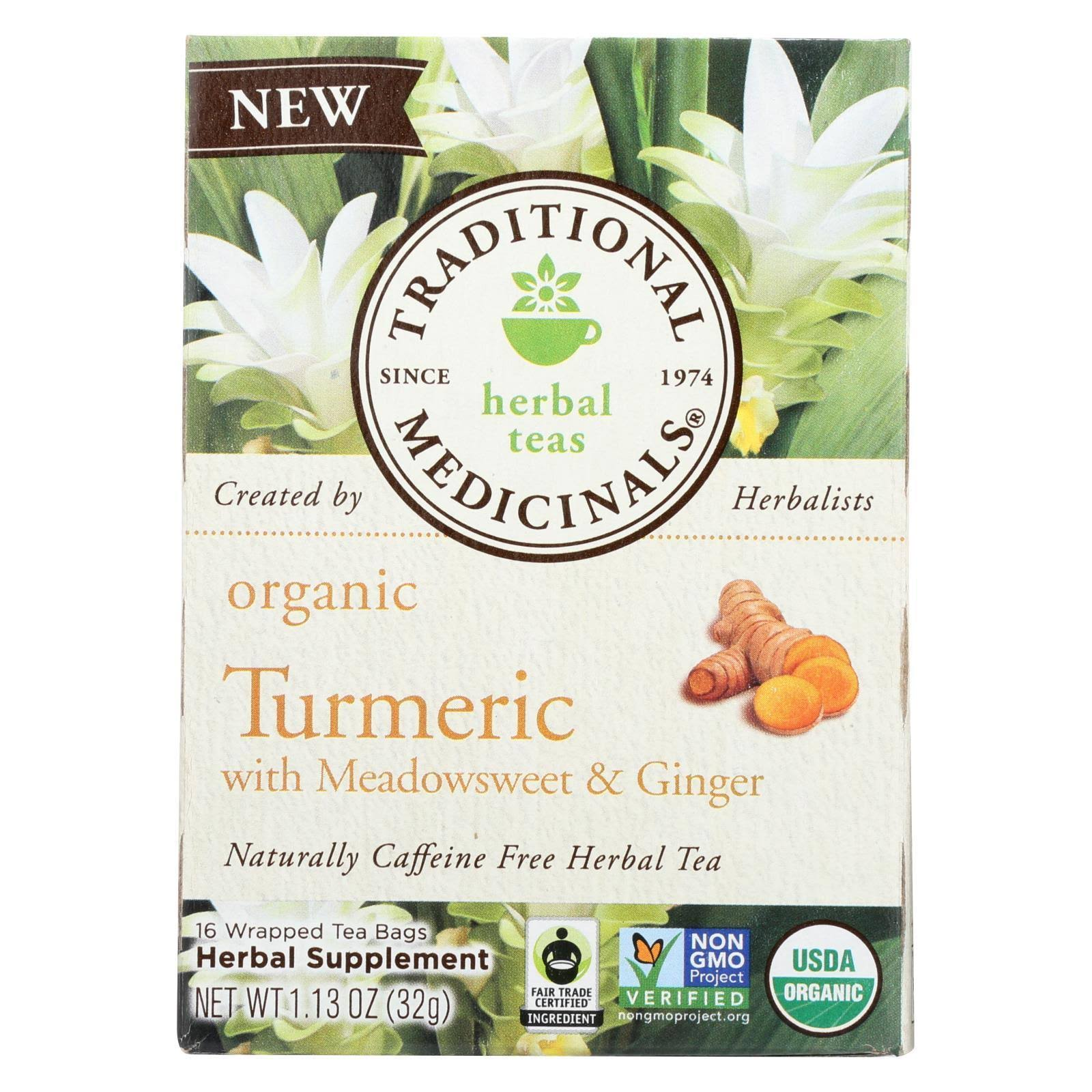 Traditional Medicinals Organic Turmeric Tea - 16 ct