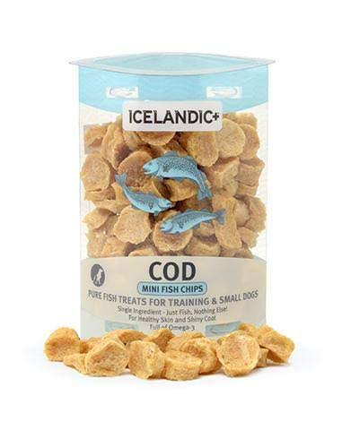 Icelandic Plus Mini Cod Fish Chips Dog Treat - 56g