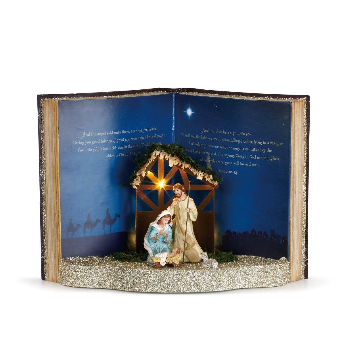 Demdaco Lit Storybook Nativity Scene Figure
