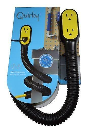 Quirky Prop Power Pro Wrap Around Extension Cord - Black, 3 Plugs, 9'