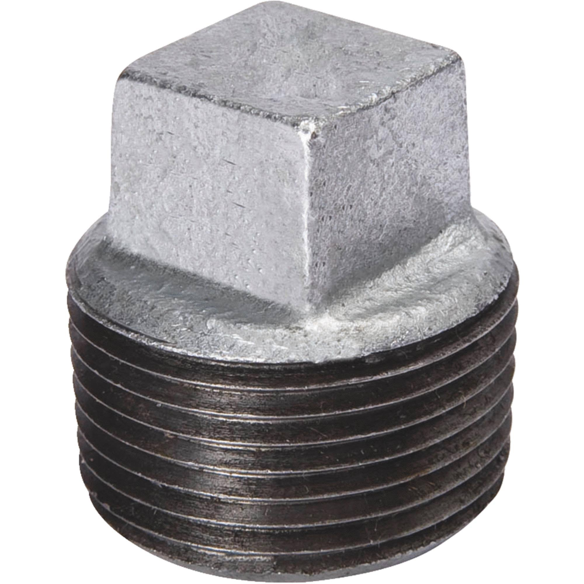 B&K 1in FIP Malleable Iron Galvanized Plug