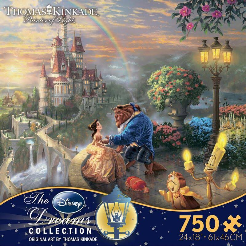 Ceaco Kinkade Disney Dreams Jigsaw Puzzle - Beauty & the Beast, Puzzle, 750 Pieces