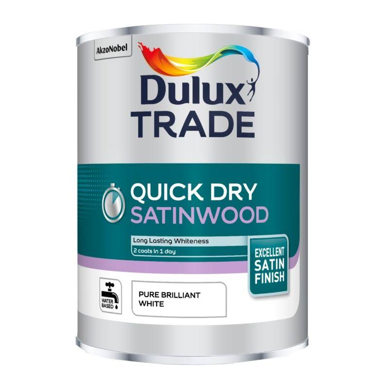 Dulux Trade Quick Drying Satinwood Paint - Pure Brilliant White