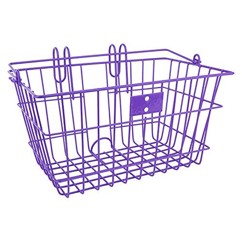 Sunlite Lift off Front Wire Bike Basket - Purple
